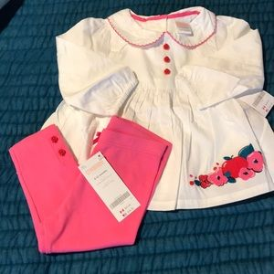 Gymboree blouse and leggings set